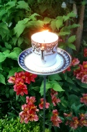 Tea cup garden candles Wick Hutton Objets trouve